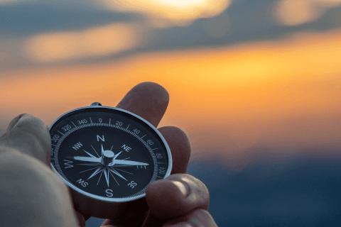 Kompass als Orientierung